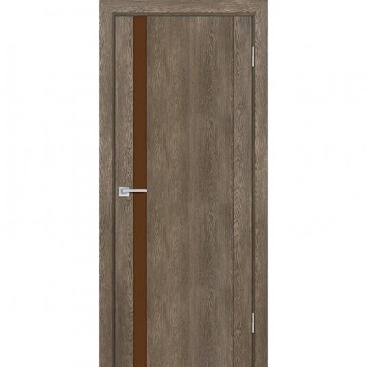 Дверь Profilo Porte PSN-10 ДО Бруно антико со стеклом Кофе Лакобель