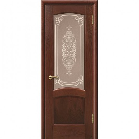 Дверь ульяновская Александрит(Комфорт) красное дерево ДО
