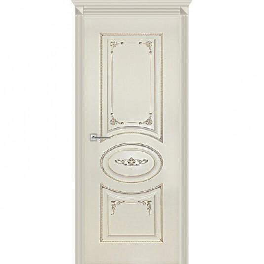 Дверь Карина-8 эмаль ваниль патина перламутр ДГ