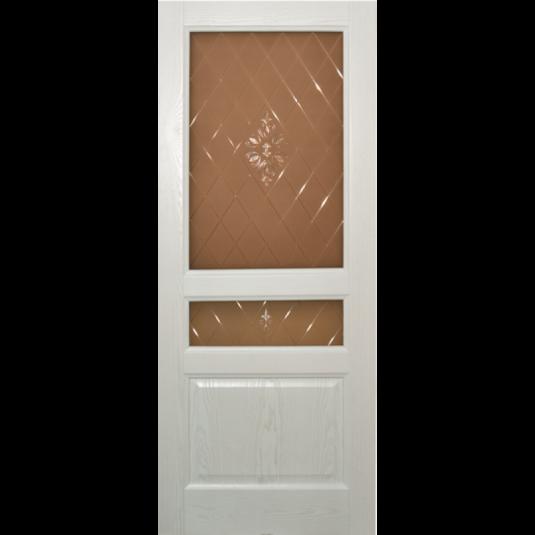 Дверь шпонированная Дворецкий Готика ДО белый ясень