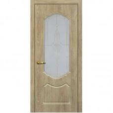 Дверь ПВХ Мариам Сиена 2 ДО Дуб песочный
