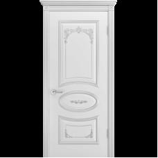 Дверь BP-DOORS Ария Грейс 2 B3  ДГ Эмаль Белая патина серебро