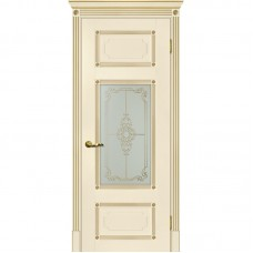 Дверь экошпон Мариам Флоренция-3 ДО Магнолия патина золото