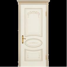 Дверь BP-DOORS Ария Грейс B4  ДГ Эмаль Слоновая кость патина золото