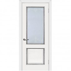 Дверь экошпон Мариам Мурано 2 ДО Белый патина серебро