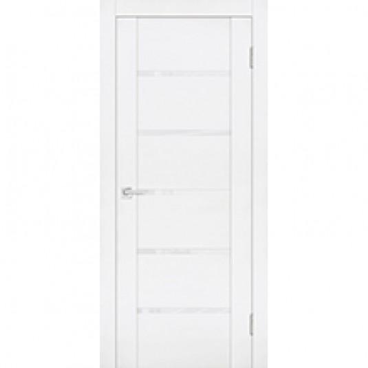 Дверь экошпон Profilo Porte PST-7 Белый ясень со стеклом