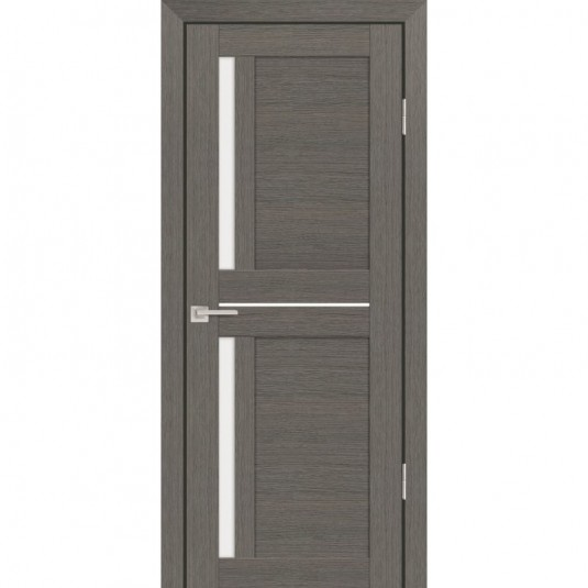 Дверь Profilo Porte PS-19 Грей мелинга со стеклом Сатинат
