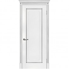 Дверь экошпон Мариам Флоренция-1 ДГ Белый патина серебро