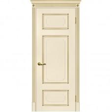 Дверь экошпон Мариам Флоренция-3 ДГ Магнолия патина золото