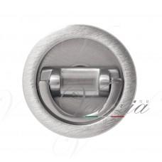 Ручка для раздвижной/распашной двери на круглом основании VENEZIA U155 матовый хром