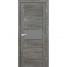 Дверь Profilo Porte PSN-5 ДО Гриджио антико со стеклом Серый Лакобель
