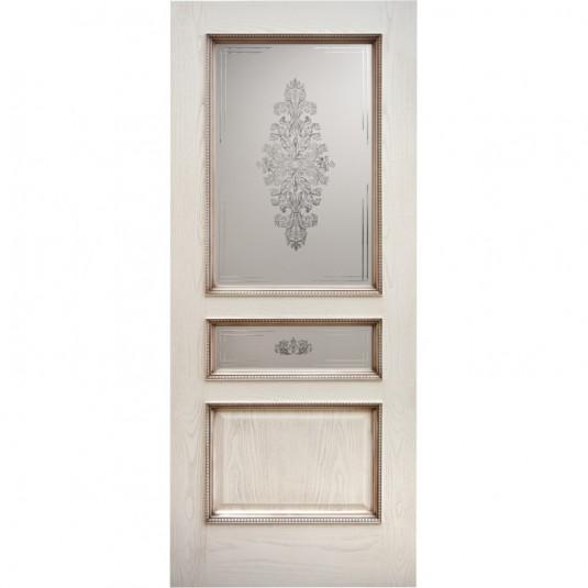 Дверь шпонированная Дворецкий Альба ДО ясень карамельный с патиной