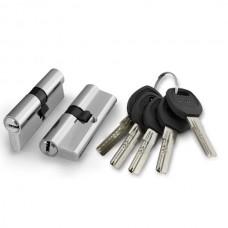 Цилиндровый механизм Punto A200/60 mm (25+10+25) SN матовый никель 5 кл.
