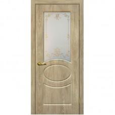 Дверь ПВХ Мариам Сиена 1 ДО Дуб песочный