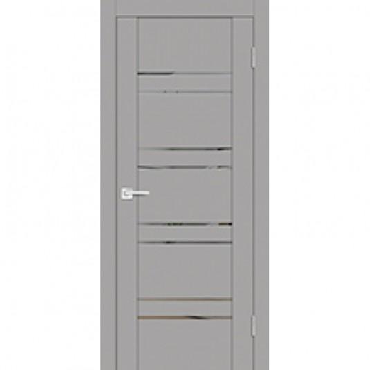 Дверь экошпон Profilo Porte PST-1 Серый ясень со стеклом