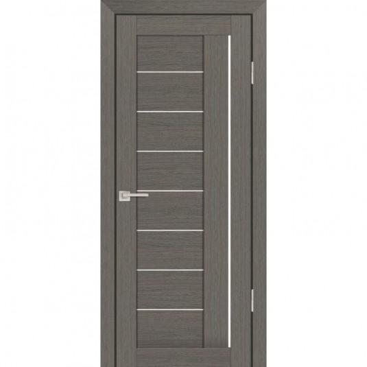 Дверь Profilo Porte PS-17 Грей мелинга со стеклом Сатинат