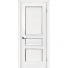 Дверь экошпон Мариам Мурано 2 ДГ Белый патина серебро