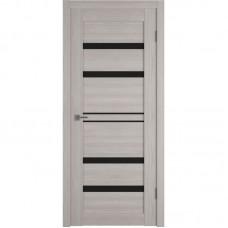 Дверь ВФД Atum Pro 26  Stone Oak непрозрачное окрашенное стекло лакобель черного цвета