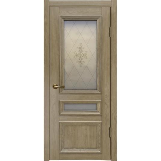 Межкомнатные двери Вероника-3 Дуб натуральный (легенда)