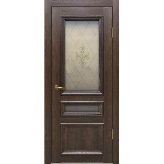 Межкомнатные двери Вероника-3 Дуб оксфордский